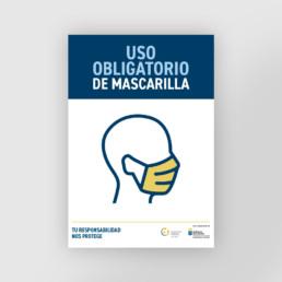 Cartel uso obligatorio de Mascarilla