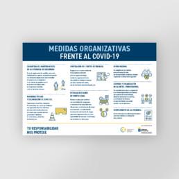 Cartel en horizontal con las medidas organizativas contra el covid-19