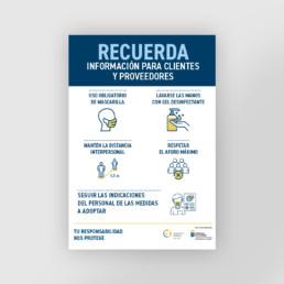 Cartel con información para clientes y proveedores